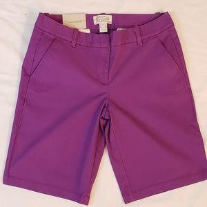 🛍SALE!!! NWT J.CREW Bermuda sz.2 women's shorts